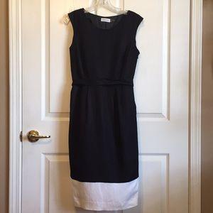 🆕 Calvin Klein Sz 4 Black and white dress
